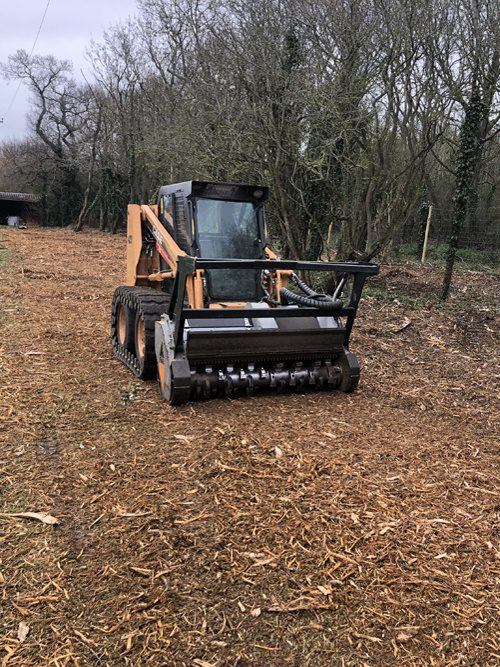 Site Clearance With A Forestry Mulcher To Clear Brambles & Hawthorns